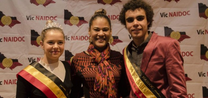 Miss NAIDOC 2016, Merinda Dryden and Mr NAIDOC 2016, Jordan Kamara Edwards